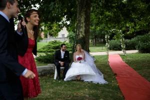Discours de la témoin. Photo réalisée par Castille ALMA photographe de mariage à Lyon.