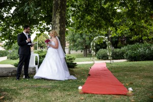 Cérémonie laique. Photo réalisée par Castille ALMA photographe de mariage à Lyon.