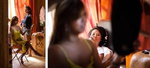 Les préparatifs de la mariée. Photo réalisée par Castille ALMA photographe de mariage au Comptoir Saint Hilaire dans le Gard.