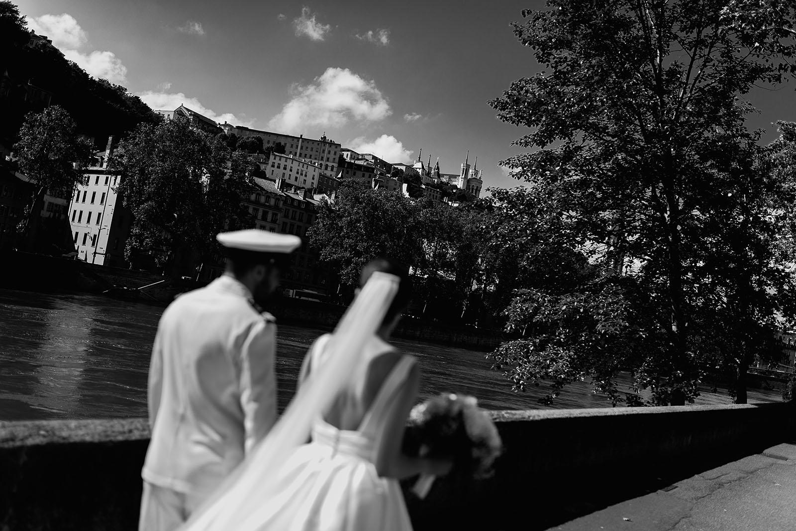 Photographe de mariage Lyon presqu'île Basilique de Fourvière
