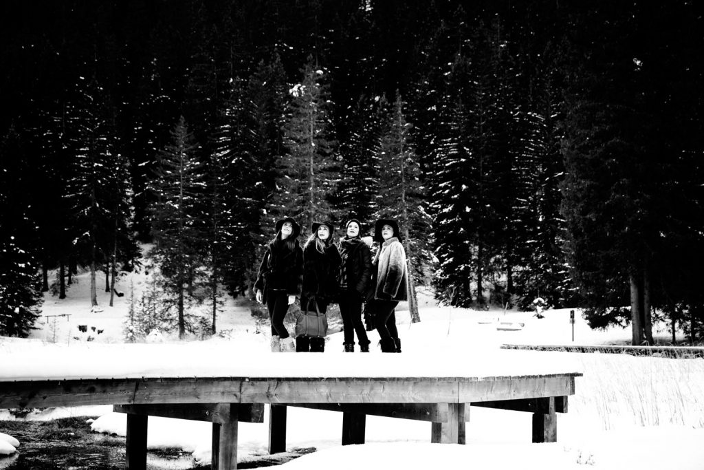 Enterrement de vie de jeune fille - Courchevel Séance photo par Castille ALMA