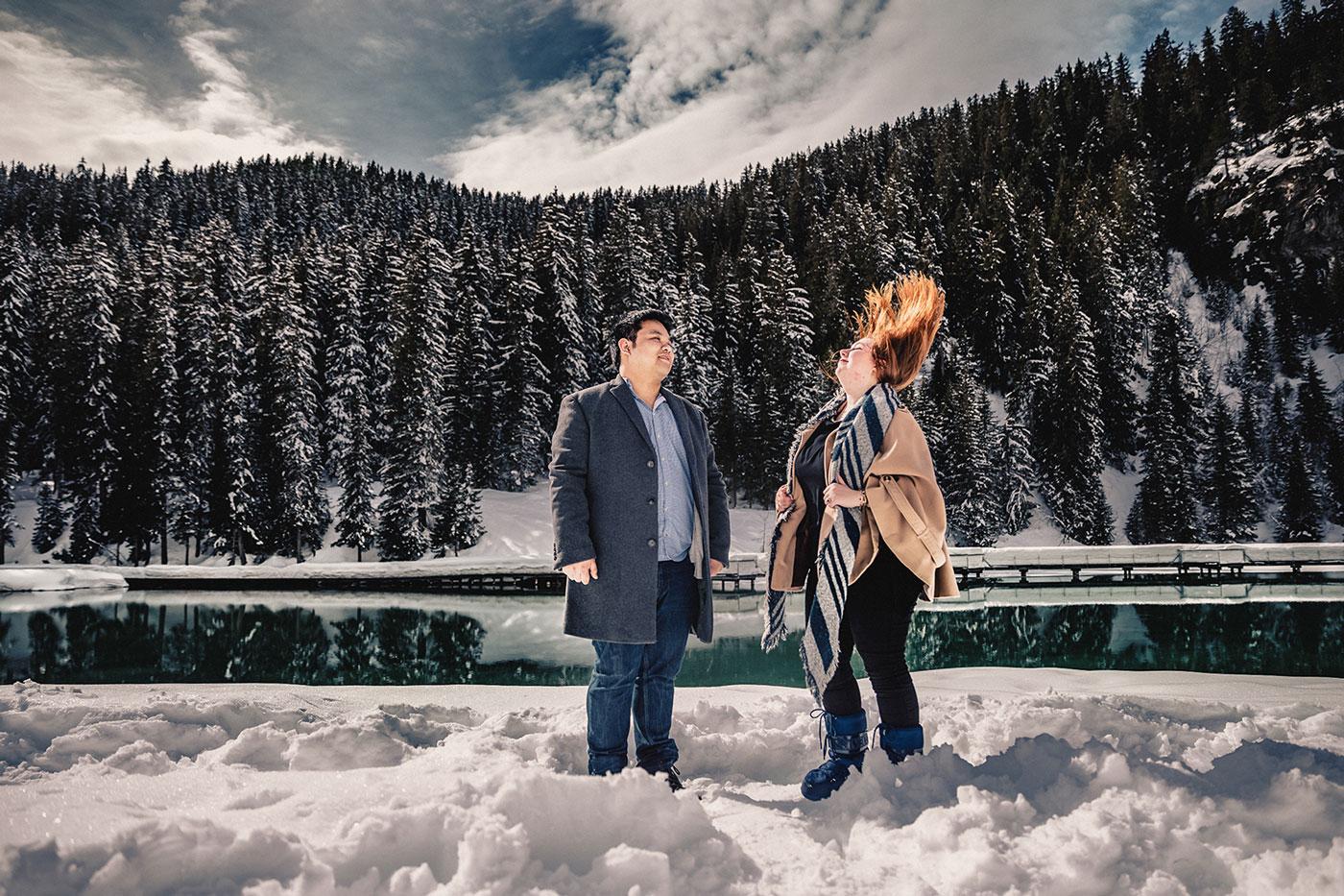 Photographe de couple Courchevel