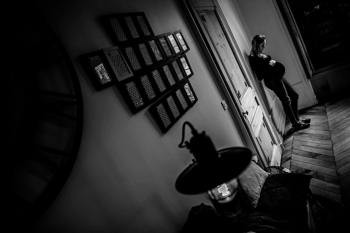 photographe séance grossesse studio Lyon Castille ALMA photographe mariage et famille