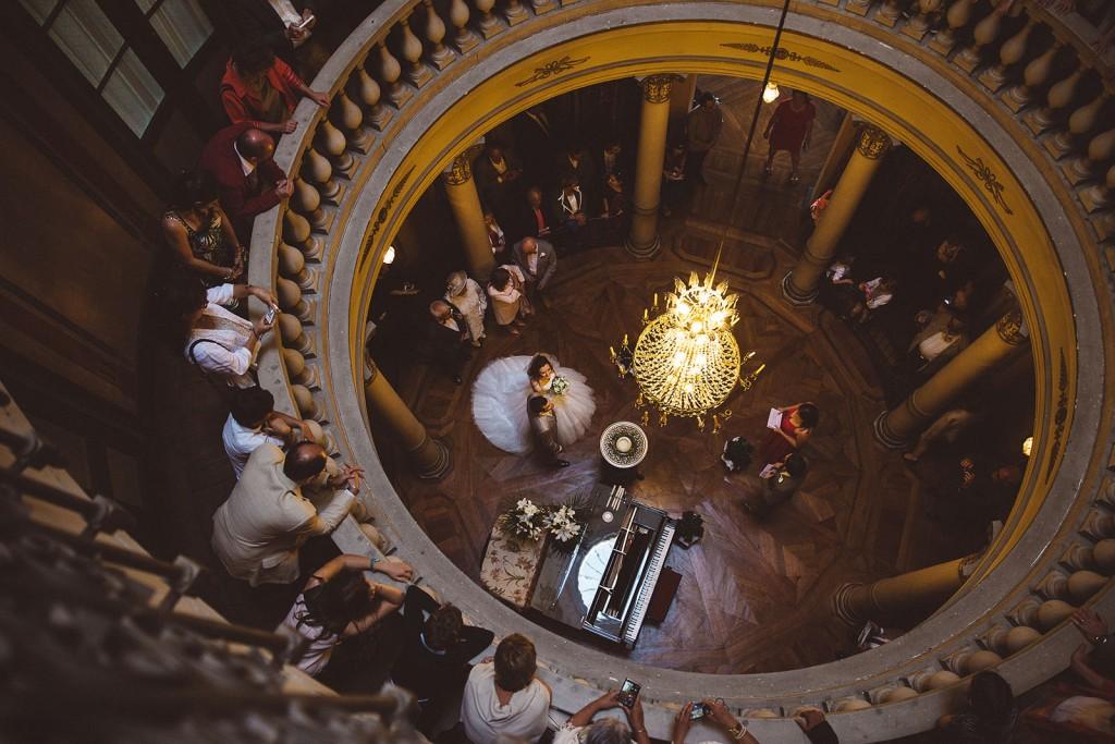 photographe de mariage dans le jura photo cérémonie de mariage villa palladienne