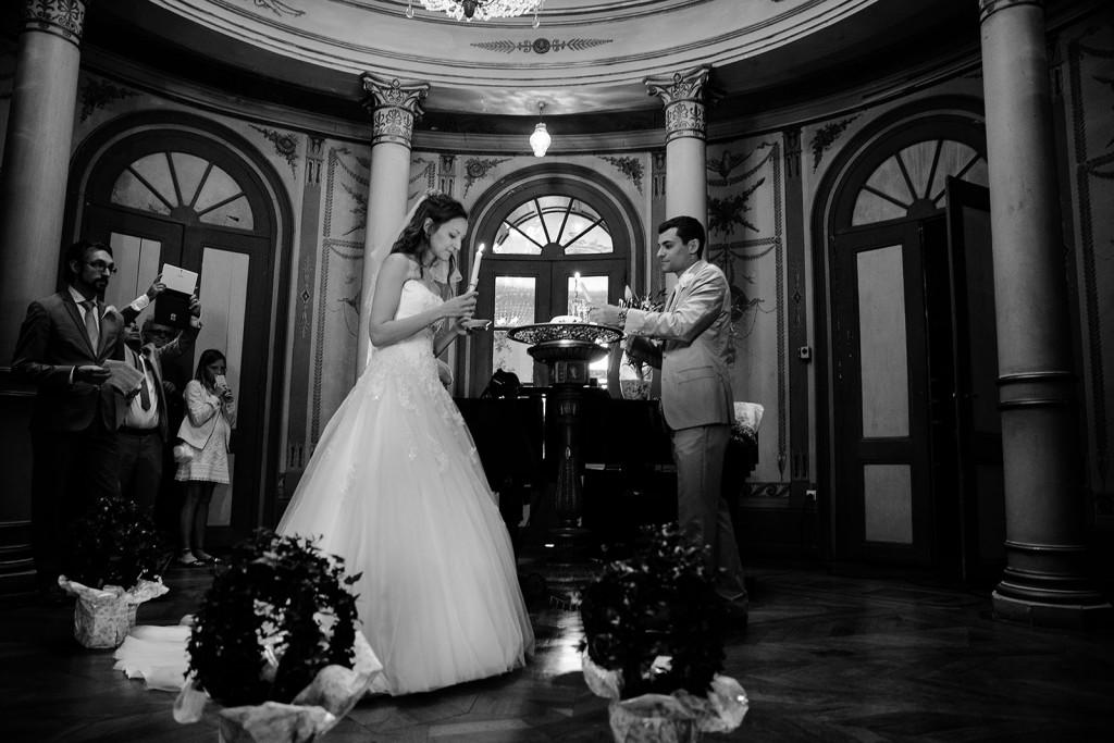 photographe de mariage dans le jura photo cérémonie laïque de mariage rituel des bougies villa palladienne