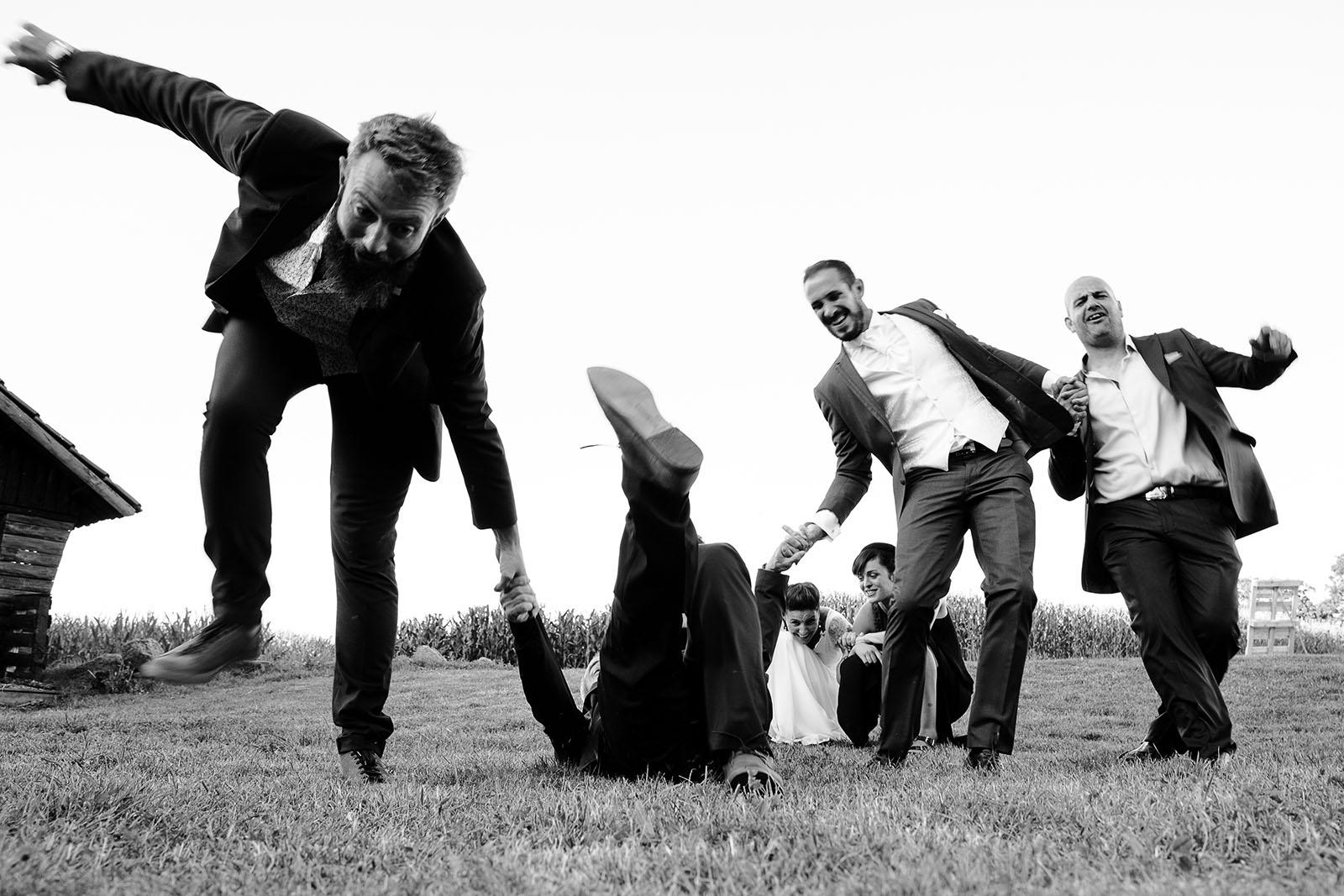 photographe de mariage Saint Etienne photo groupe créative