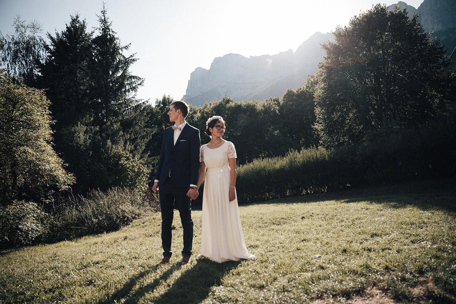 Photographe de mariage montagne alpes