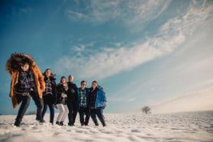 Séance photo famille dans la neige, Suisse, Canada , photographe de famille