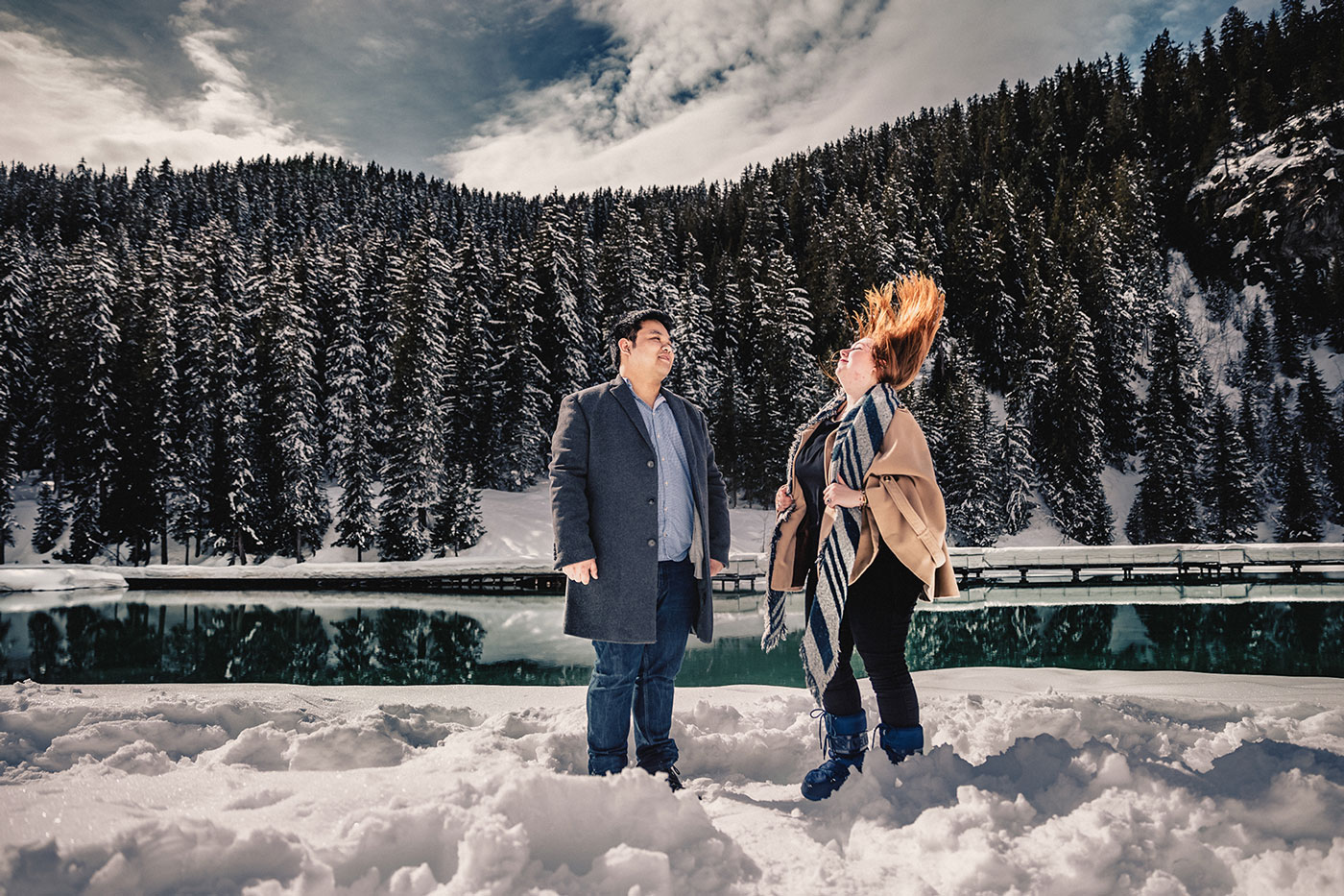 Photographe de couple Courchevel