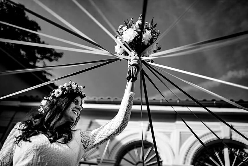 Photographe Mariage à l'Orangerie de Grange Merlin Castille Alma photographe de mariage